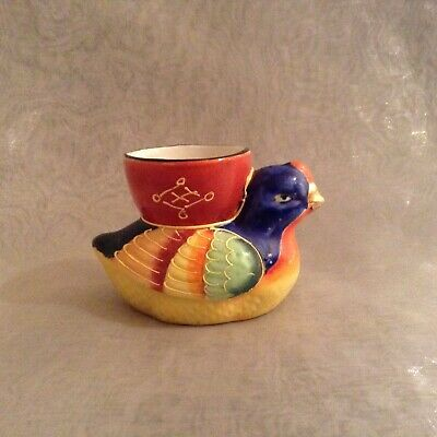 Vintage Duck Egg Cup Hand Painted