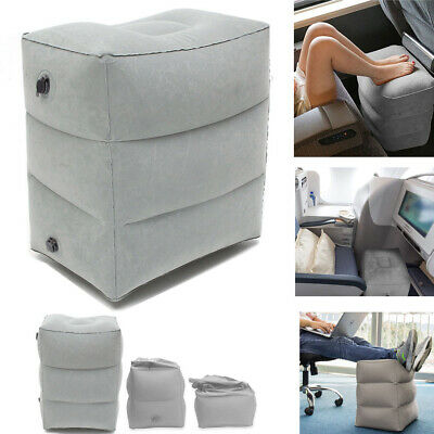 Inflatable Foot Rest Travel Air Pillow Cushion Home Office Leg Up Footrest Relax
