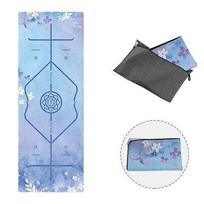 PIDO Printed Travel Yoga Mat 2019 Updated Version Eco Suede Rubber Light Weig...