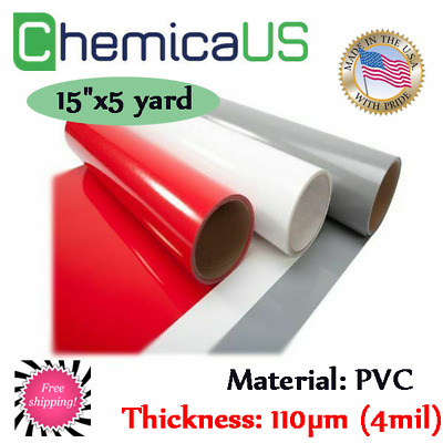 "60/' Iron on Heat Transfer Vinyl Roll SHIP FREE CHEMICA Vivid Red 15/""x20Yds"