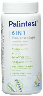 Test Strips for the Analysis of the pool water–6in 1–Jar of 50Strips.