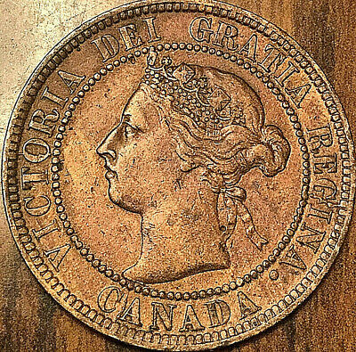 1893 CANADA LARGE CENT COIN LARGE 1 CENT PENNY - Cleaned