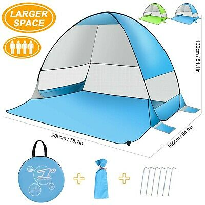 ZOMAKE Pop up Beach Tent Large for 2 4