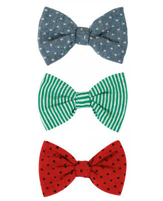 Stephan Baby Boy Just Like Daddy Bow Ties With Clip Set Blue, Green, Red 654776