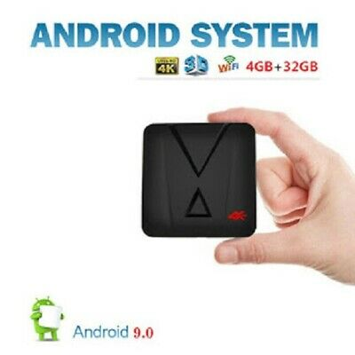 Tv  Box Android 9.0 Ram 4 Gb + 32 Gb Wifi 4K Hd Iptv Usb Hdmi Smart Tv