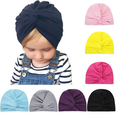 Accessories Kids Girls Beanie Cap Cute Baby Hat Knotted Headband Toddler Turban