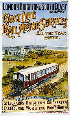 Vintage Rail travel railway poster  A4 RE PRINT1904 Midland Railway to Scotland