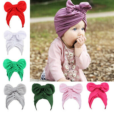Hairband Elastic  Newborn  Flower Headband Baby Hats Bowknot Turban Headwrap