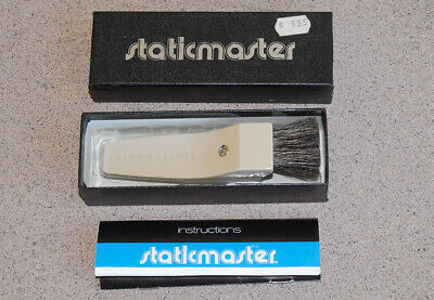 Vintage Staticmaster 1C200 static removal brush in box Alpha ionizing technology