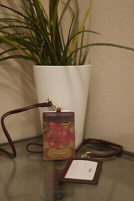 COACH ID LANYARD IN SIGNATURE CANVAS With Victorian Floral Print F88058