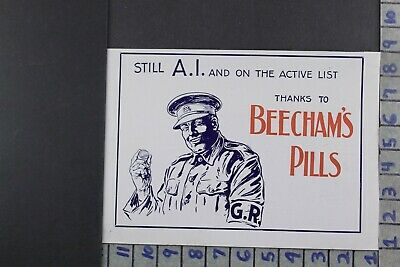 1915 Medical Quack Medicine British Military Soldier Health Pills Ad Dy013