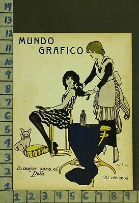 1917 Quack Med Cure Ad Sexy Beauty Hair Care Salon Cosmetology Art Cover Zr64