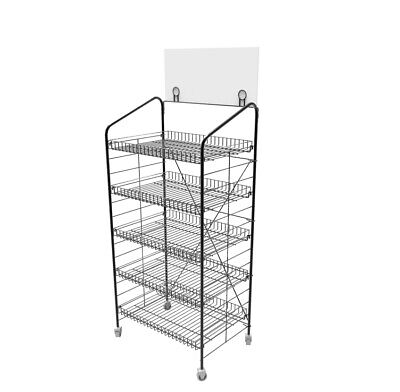 "66.3cm X 41.9cm X 58 "" Bäckerei Display Rack W / Räder"