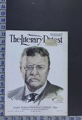 1919 Political History President Theodore Roosevelt Illus Chase Cover Cov492