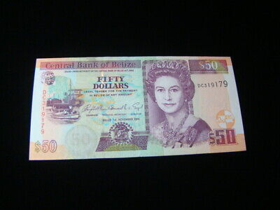 Belize 2006 $50.00 Banknote Gem Unc. Pick#70b Very Nice!!