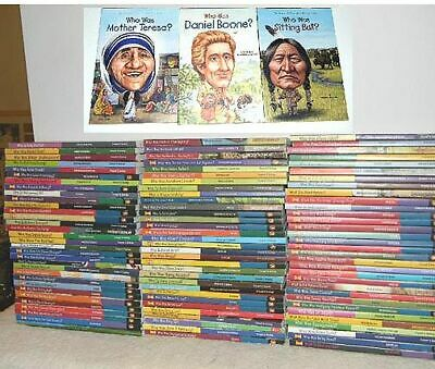 SET of 91 ~ WHO WAS ~ Where & What Was ~ CHILDREN HISTORICAL BOOKS ~ BIOGRAPHY