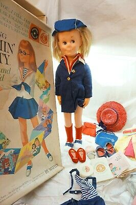 CHARMIN CHATTY CATHY DOLL OUTFITS RECORDS BOX SHOES CLOTHES ACCESSORIES 1961 d