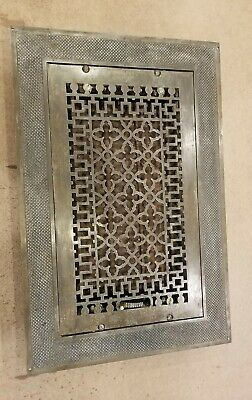 Ornate Vintage Tuttle & Bailey Cast Iron Floor Heat Grate with louvers