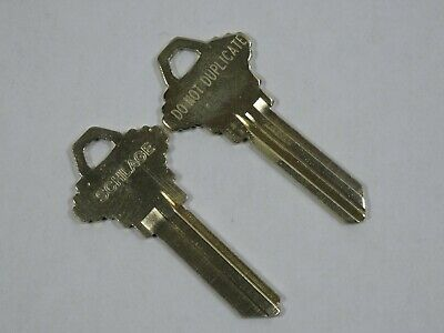 (2) Schlage 35-101 1468 Key-Blanks