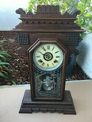 RARE Antique ANSONIA Chiming Mantle Clock With Alarm UNIQUE!