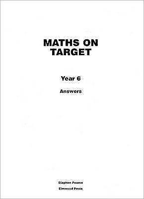 Maths on Target. Answers by Pearce, Stephen (Paperback book, 2008)