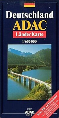 Germany 1:650,000 Road Map by ADAC, , Used; Good Book