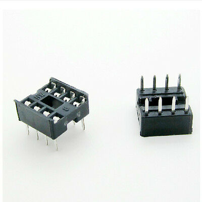 50Pcs 8 Pin DIP8 Integrated Circuit IC Sockets Adaptor Solder Type HGHD