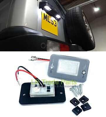 Land Rover Discovery 2 Led License Number Plate Lights X2, Upgrade (1998-2004)