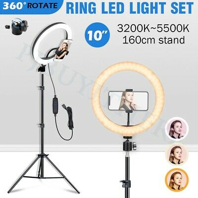 Photography Dimmable Led Ring Light Stand Lighting Kit Phone Makeup Selfie Video