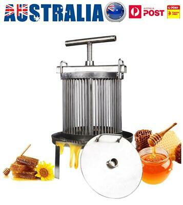 Household Manual Bee Honey Press Presser Wax Machine Beekeeping Agriculture AU
