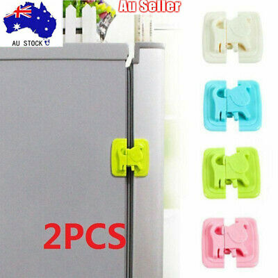 2xProtect Freezer Toddler Cupboard Child Drawer For Baby Lock Fridge Safety Door