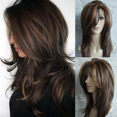 5 Styles Women Long Curly Wigs Synthetic Hair Natural Full Wavy Wig New Fashion