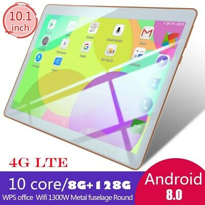 10.1 inch 8+128GB Tablet WiFi/4G-LTE Tablet PC 10 Core Android 8.0 Dual Camera