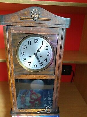 Antique Regulator Type Wall Clock.