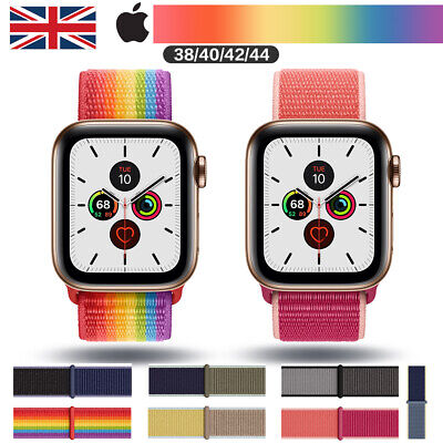 For Apple Watch / Case Nylon Sport Loop Woven Strap Band Series 5 /4 / 3 / 2/ 1