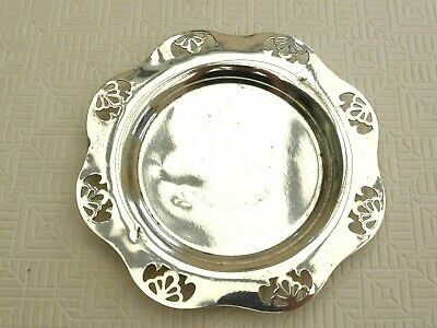 Vintage Silver Plated Floral Pierced Pattern Bottle/Decanter Stand   1440605/609