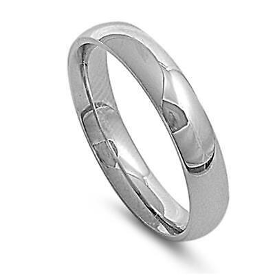 Plain Silver Stainless Steel Thumb Ring ~ 5mm Unisex ~ 6 7 8 9 10 11 12 13 14 15