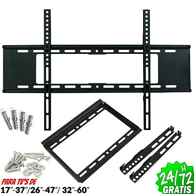 """Support TV Mural Q LED LCD Plasma 17 """" A 60 """" 40kg Robuste Réglable Flat Support"""