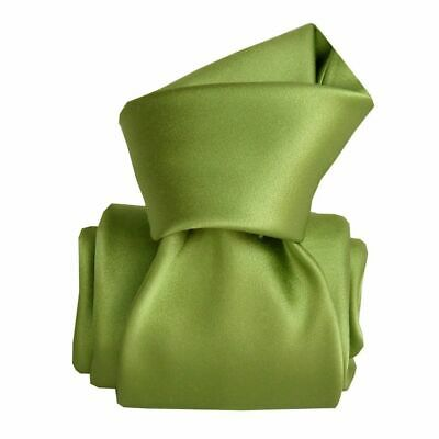 Cravate luxe soie satin faite main - Vert -