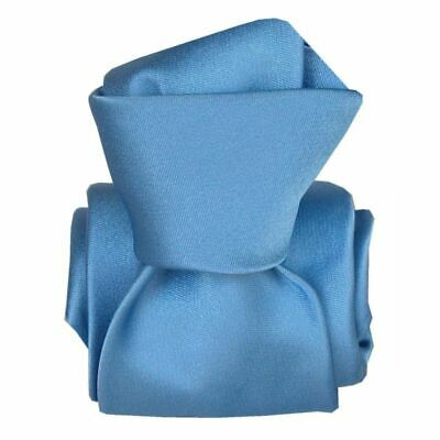 Cravate luxe soie satin faite main - Bleu -
