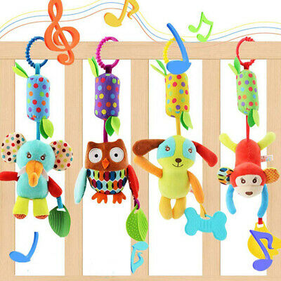 Baby Stroller Hanging Toy Cradle Rattle Animal Dolls Infant Wind Chimes Toys