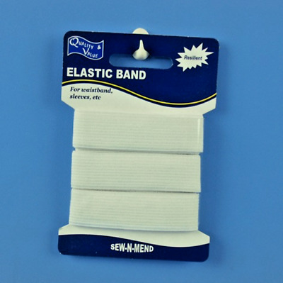 Elastic White Sewing Band 20Mm Wide X 1500Mm Length Sew N Mend Dressmaking | Hyt