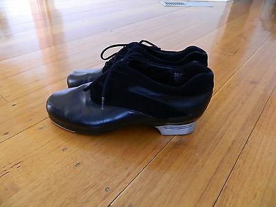 Leather Men's Black Capezio Sonic Tap Shoes Adult Size 13 Dance Shoes