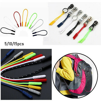 5 PCS EDC Zipper Pull Cord Rope Ends Lock Zip Clip Buckle For Clothing Bags HU