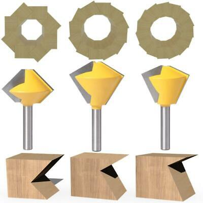 8mm Shank 6/8/12 Sided Bird's Mouth Router Bits Bearing Milling Flash Trimmer