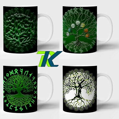 TREE OF LIFE Pagan, Wiccan, Celtic, Slavic - Mugs with occult signs protect gift