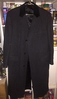 Brooks Brothers Herringbone Wool-Cashmere Chesterfield Coat 38R Retail $1198 Exc