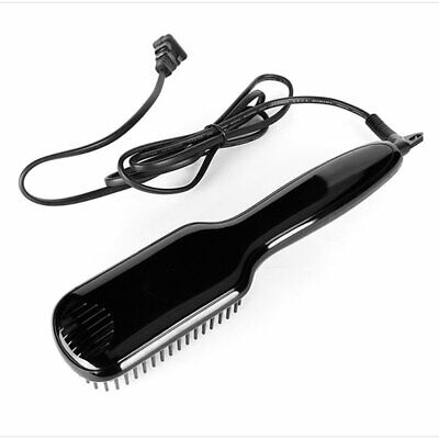 Men Quick Beard Straightener Electric Hair Straightening Brush Ceramic Comb NEW