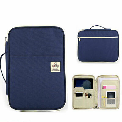 Travel File Document Organiser A4 Size Multi-Functional Messenger Notebook Bags