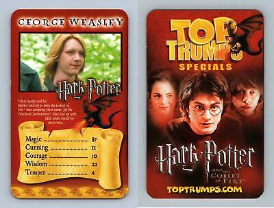 George Wesley - Harry Potter & The Goblet Of Fire 2005 Top Trumps Specials Card